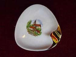 EIGL porcelán Ausztria, hamutál,  háromszögletű. Mérete 10 x 9,5 cm.
