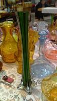 Art deco zöld üveg váza