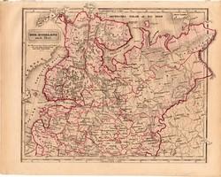 Észak - Oroszország (Európa) (2), térkép 1840, német, atlasz, eredeti, 23 x 29 cm, Moszkva, finn