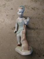Aquincumi porcelán,kisfiú nyuszival!