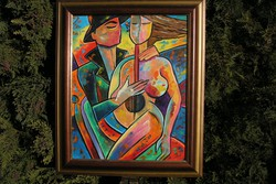 B. Preszecsán Hajnalka (Nagyatád,1991 - ) - olajfestmény 50×40 cm!