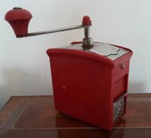 Retro műanyag daráló Mirköz piros kávédaráló