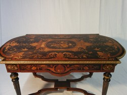 XVI. Lajos korabeli stílusú asztal,ajándék székkel