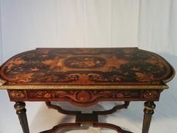 XVI. Lajos korabeli stílusú íróasztal,ajándék székkel