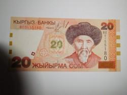 Kirgizisztán  20 com  2002  UNC további bankjegyek a kínálatomban a galérián!