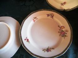 7 db régi, antik angol desszertes , suteményes készlet,tányér