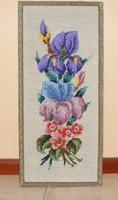 Virágos gobelin kép