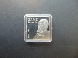 2000 forint 2014 Ganz Ábrahám szögletes emlékpénzérme PP