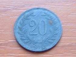 AUSZTRIA OSZTRÁK 20 HELLER 1918 #