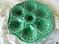 Sarreguemines  francia zöld kerámia  tojástartó