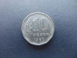 10 peso 1963 Argentína