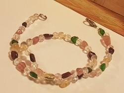 Smaragd, Rubin, Citrin , Gránát, és kristály gyöngysor