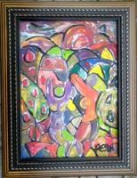 Németh Miklós ( 1934-2012 ) nagyon szép eredeti 70x50 cm festmény