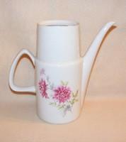 Porcelán virágos kancsó, kiöntő