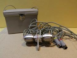 1960-asévek Grundig GDSM-202 Duál Sztereó Dynamic Mikrofon eredeti dobozában.Ritka!