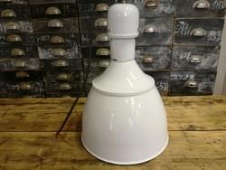 Zománc burás ipari lámpa, mennyezeti lámpa, loft vintage design lámpa (fehér)