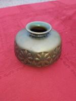 Antik Zsolnay savmaratott, eozin mázas váza 1920.