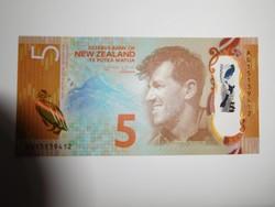 ÚJ-Zéland 5 dollár 2015 UNC Polymer