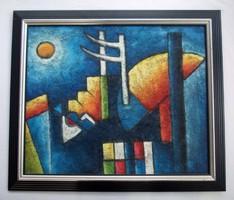 B. Long (Harry Belong) brit kortárs festő festménye