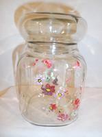 Üveg - Kézzel festett -  tároló - 15 x 9 x 9 cm - Osztrák