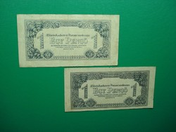 2*1 pengő 1944  méret és alapnyomat különbség!