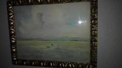 Vaszary János - Balaton - 1920- festmény,antik keretben, garanciával, - 1 forintról!