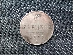 Ausztria Ferenc József .438 ezüst 6 Krajcár 1849 A / id 16197/