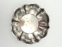 Pazar antik ezüst tál, kézzel kalapált 96 g