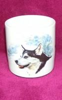 Bohemia kutyás porcelán bögre