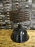Zománc ipari lámpa, rolós kihúzható szerkezettel, ipari design, loft, industrial, vintage