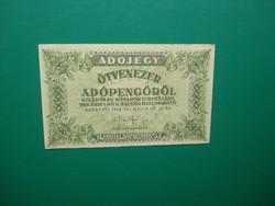 50000 adópengő 1946 Extraszép!Sajtóhibás!