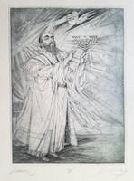 Kass János - Ünnep 39 x 29 cm rézkarc