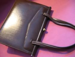 Kávébarna retro régi skai minőségi kis elegáns táska