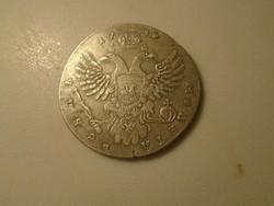 1740 . Ezüst 1 Rubel. Anna Orosz cárnő