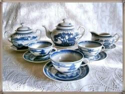 Eredeti, antik 19. századi kínai porcelán teáskészlet