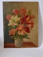 Virág csendélet festmény  szignózott
