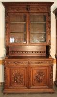 Reneszánsz stílusú vitrines tálaló szekrény!