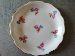 Aquincumi apró virágos porcelán tálka
