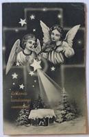 Karácsonyi üdvözlőlap, 1943: Zenélő angyalok
