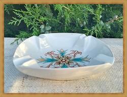Ritka, kézzel festett Zsolnay porcelán hamutartó