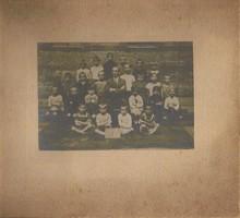 Régi osztélykép vastag kartonon 1. Vizi József foto