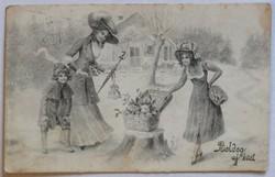 Újévi képeslap, 1916