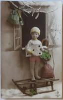 Újévi képeslap, fotó-üdvözlőlap, 1917