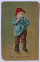 """Első világháborús képeslap, 1916-1918 között: """"Mikor lesz már béke."""""""