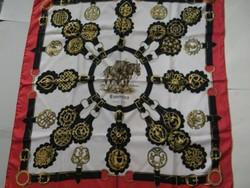 Vintage Hermes selyemkendő (F. de La Perriere)