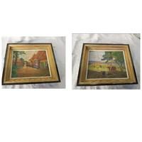2 db antik kvalitásos festmény eladó hagyatékból.