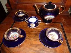 Kobaltkék német porcelán kávézó készlet