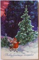 Karácsonyi képeslap, 1905-1930 között (Amag 1889)
