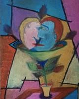 """Kortárs festő. Olaj/vászon. 2010es évekből származik. """"Szerelemvirág"""""""