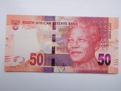 Dél-Afrikai Közt 50 rand  2014 UNC